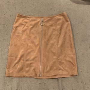 Dresses & Skirts - Light brown faux suede skirt